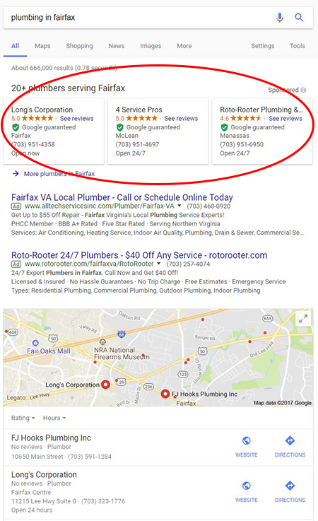 Google Gurantee Desktop Results