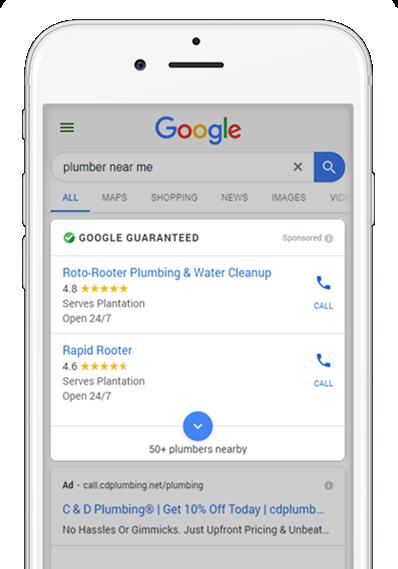 Google Gurantee Mobile Results